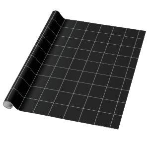 Black Grid Wrapping Paper