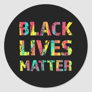 Black Lives Matter Painting 01 Rise Up Reminder Classic Round Sticker
