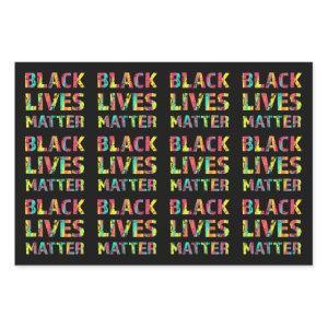 Black Lives Matter Painting 01 Rise Up Together Wrapping Paper Sheets