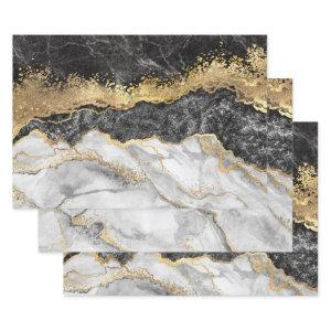 Black Marble with Gold Pretty  Sheets