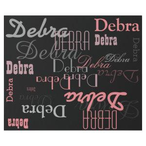 black/pink personalized . name pattern wrapping paper