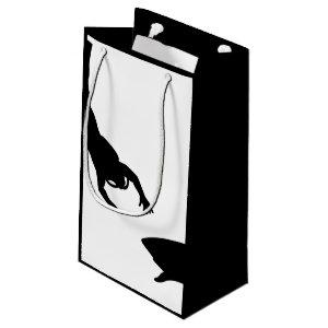 Black Scuba Diver and Shark Small Gift Bag