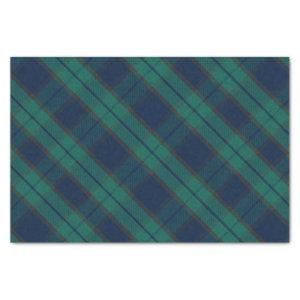 Black Watch Tartan Plaid Classic Blue Green Tissue Paper