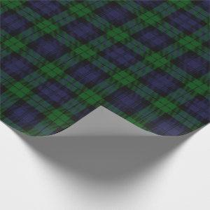 Black Watch Tartan Plaid Scottish Plaid Pattern Wrapping Paper