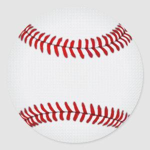 Blank Baseball Stickers, Round, Large or Small Classic Round Sticker