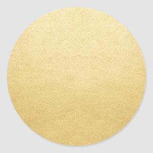 Blank Template Gold Shine Add Any Text or Logo Classic Round Sticker