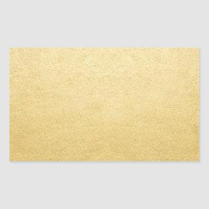 Blank Template Gold Shine Add Any Text or Logo Rectangular Sticker