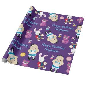 Blonde Alice's Adventures in Wonderland Wrapping Paper
