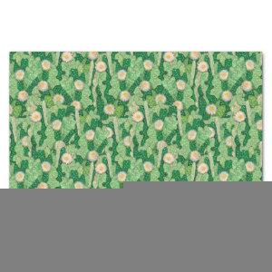 Blooming cactus succulent green camouflage pattern tissue paper