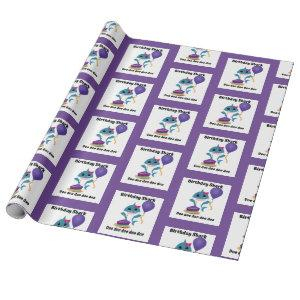Blue and Purple Girl baby Shark wrapping paper