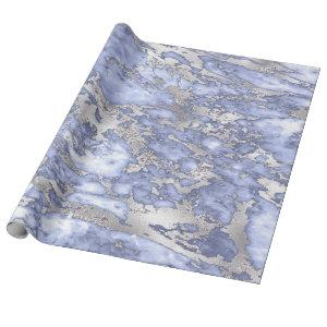 blue and silver marble background wrapping paper
