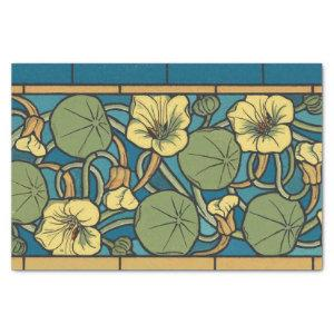 Blue and Yellow Floral Pattern Tissue Paper