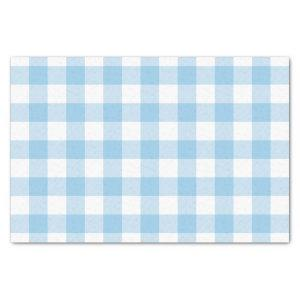 Blue Buffalo Check Pattern Tissue Paper
