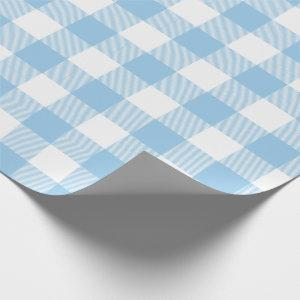 Blue Buffalo Check Pattern Wrapping Paper
