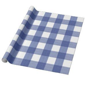 Blue Buffalo Plaid paper