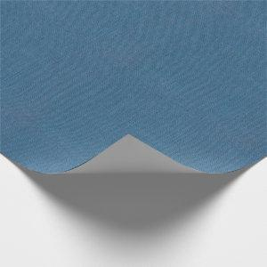 Blue Burlap Texture Wrapping Paper