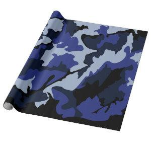 Blue Camo, Wrapping Paper