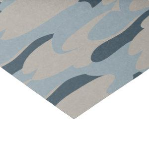 Blue Camouflage Air Force Party Tissue Paper