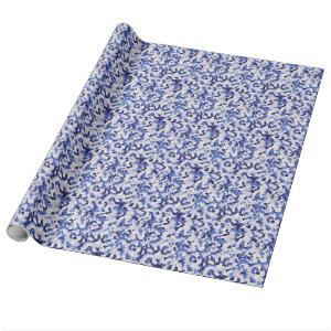 Blue camouflage pattern wrapping paper