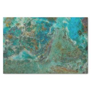 Blue Chrysocolla Stone Image Tissue Paper