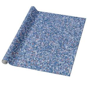 Blue Glitter Glam Faux Wrapping Paper