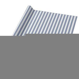 Blue grey and white candy stripes wrapping paper