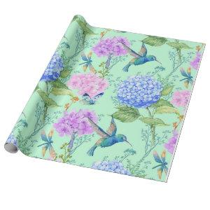 Blue Hydrangea Wrapping Paper