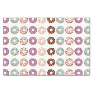 Blue Iced Donuts With Sprinkles Pattern Party Tissue Paper