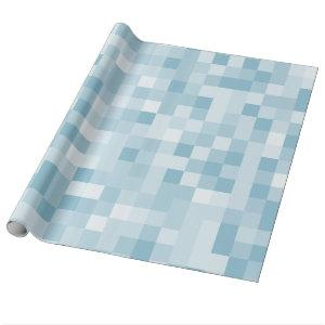 Blue pixels wrapping paper