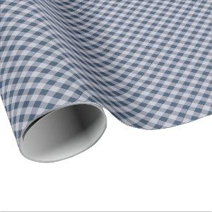 Blue Plaid All Occasion Wrapping Paper