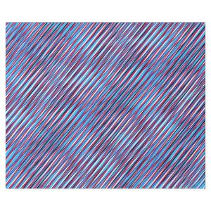 Blue red Moiré Stripes, Optical illusion, Abstract Wrapping Paper