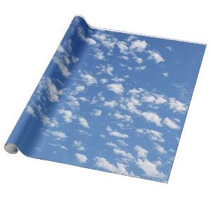 Blue Sky and White Clouds wrapping paper