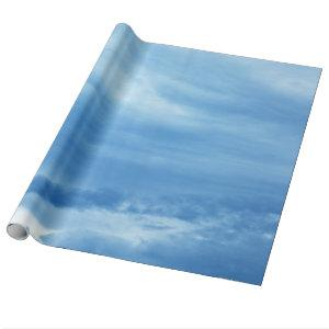 Blue Sky White Clouds Background skies heaven Wrapping Paper