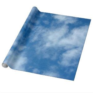 Blue Sky with Clouds Photo Wrapping Paper