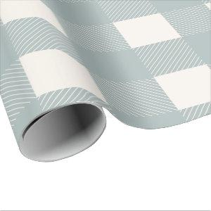 Blue  White  Plaid Check Country Wrapping Paper