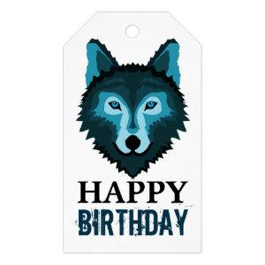 Blue Wolf Gift Tags
