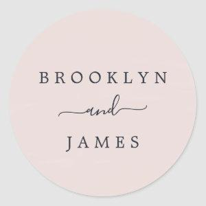 Blush Pink and Navy Wedding Envelope Seals