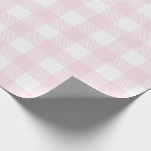 Blush Pink Buffalo Check Pattern Wrapping Paper