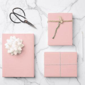 Blush Pink #FFCEC7 Wrapping Paper Sheets