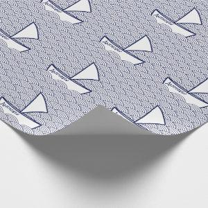 Boat on Waves Wrapping Paper
