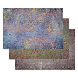 BOHEMIAN BLENDS HEAVY WEIGHT DECOUPAGE WRAPPING PAPER SHEETS