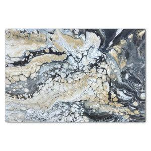 Bold Black Abstract Tissue Paper