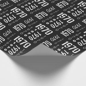 Born in 1970 50th Birthday Year Wrapping Paper