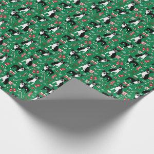 Boston Terrier Christmas dog wrapping paper