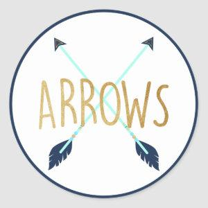 Bows or Arrows Guess the Gender Stickers Blue