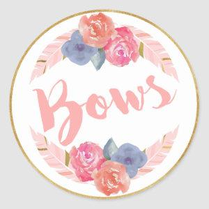 Bows or Arrows Guess the Gender Stickers Bows Pink