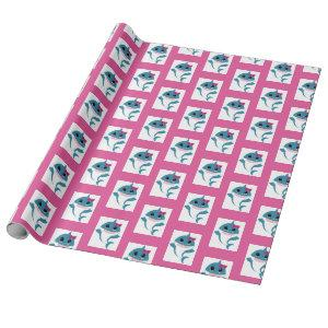Boy girl Shark wrapping paper
