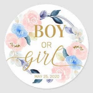 Boy or Girl Gender Reveal Stickers