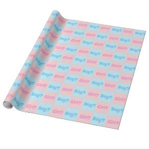 Boy or Girl Gender Reveal Wrapping Paper