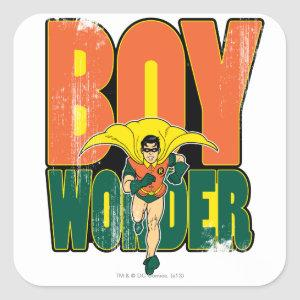 Boy Wonder Graphic Square Sticker